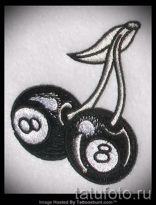 тату вишня черная - примеры татуировки на фото от 30012016 1