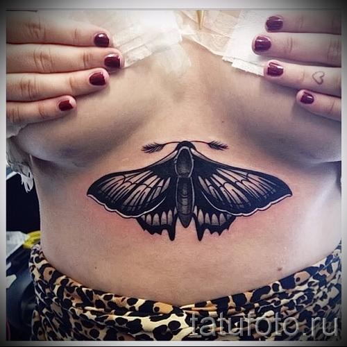 тату под грудиной фото - примеры татуировок на фотографии от 16012016 25