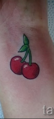 Cherry tattoo on the wrist 1