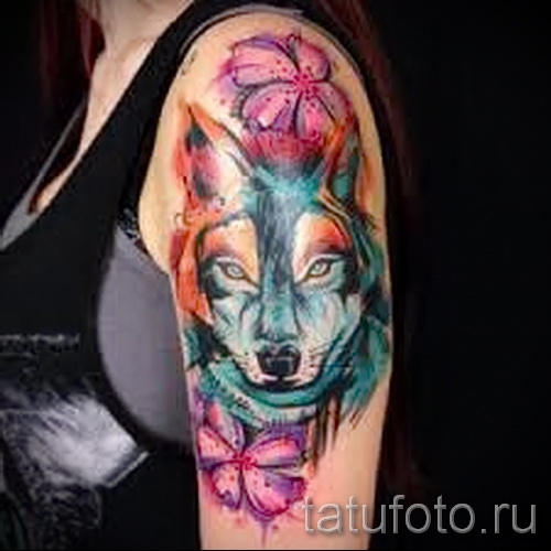 волк узор тату - фото пример для выбора от 28022016 3