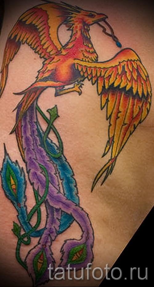 жар птица на бедре тату - примеры готовых тату в фотографиях 01022016 5