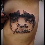 крылья на ребрах тату - фотография с примером татуировки от 03022016 1