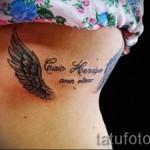 крылья на ребрах тату - фотография с примером татуировки от 03022016 11
