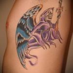 крылья на ребрах тату - фотография с примером татуировки от 03022016 3