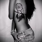 ловец снов тату на ребрах - фотография с примером татуировки от 03022016 1