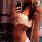 ловец снов тату на ребрах - фотография с примером татуировки от 03022016 12