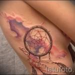 ловец снов тату на ребрах - фотография с примером татуировки от 03022016 4