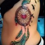 ловец снов тату на ребрах - фотография с примером татуировки от 03022016 8