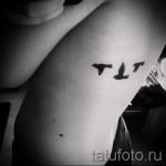 маленькие тату на ребрах - фотография с примером татуировки от 03022016 5