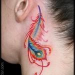 перо феникса тату - фото готовой татуировки от 11022016 1