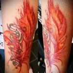 перо феникса тату - фото готовой татуировки от 11022016 6