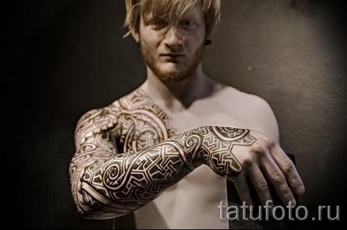 скандинавские узоры тату - фото пример для выбора от 28022016 10