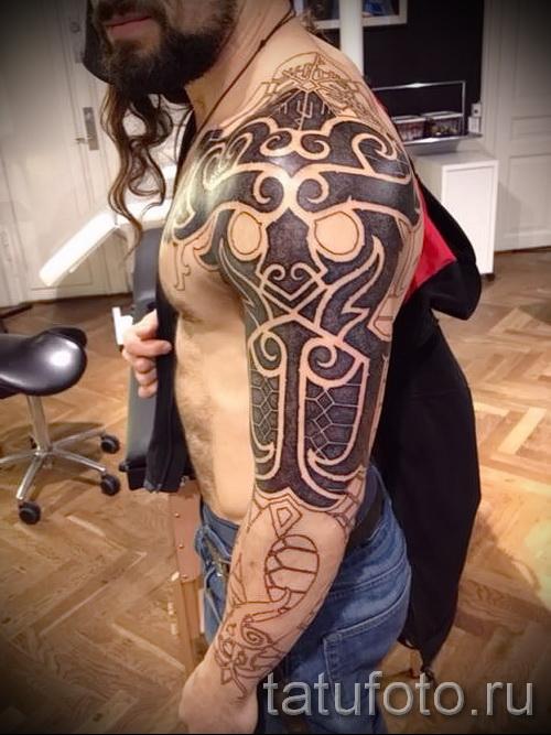 скандинавские узоры тату - фото пример для выбора от 28022016 9