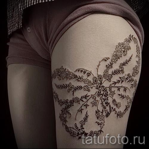 тату бабочка на бедре - примеры готовых тату в фотографиях 01022016 1