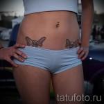 тату бантики на бедрах - примеры готовых тату в фотографиях 01022016 4