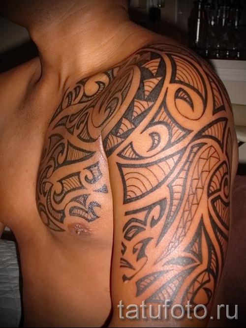 тату кельтский узор на плечо - фото пример для выбора от 28022016 1