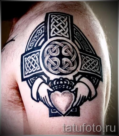 тату кельтский узор на плечо - фото пример для выбора от 28022016 2