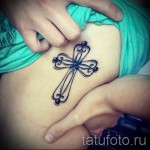 тату крест на ребрах - фотография с примером татуировки от 03022016 2