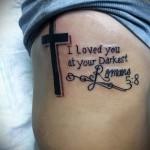 тату крест на ребрах - фотография с примером татуировки от 03022016 5