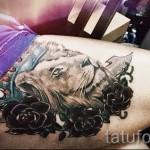 тату лев на бедре - примеры готовых тату в фотографиях 01022016 2