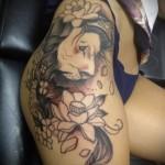 тату лев на бедре - примеры готовых тату в фотографиях 01022016 3