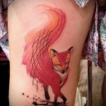 тату лиса на бедре - примеры готовых тату в фотографиях 01022016 4