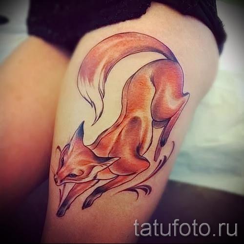 тату лиса на бедре - примеры готовых тату в фотографиях 01022016 6
