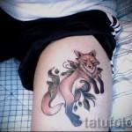 тату лиса на бедре - примеры готовых тату в фотографиях 01022016 8