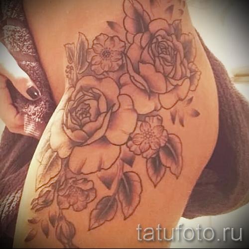 тату на бедре для девушек фото - примеры готовых тату в фотографиях 01022016 3