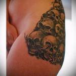 тату на бедре для девушек фото - примеры готовых тату в фотографиях 01022016 6