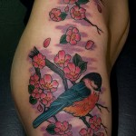 тату на бедре для девушек фото - примеры готовых тату в фотографиях 01022016 9