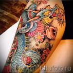 тату на бедре дракон - примеры готовых тату в фотографиях 01022016 - 005