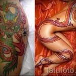 тату на бедре дракон - примеры готовых тату в фотографиях 01022016 - 008
