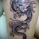 тату на бедре дракон - примеры готовых тату в фотографиях 01022016 - 016