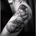 тату на бедре и боку - примеры готовых тату в фотографиях 01022016 1