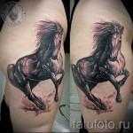 тату на бедре лошадь - примеры готовых тату в фотографиях 01022016 1