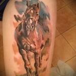 тату на бедре лошадь - примеры готовых тату в фотографиях 01022016 2