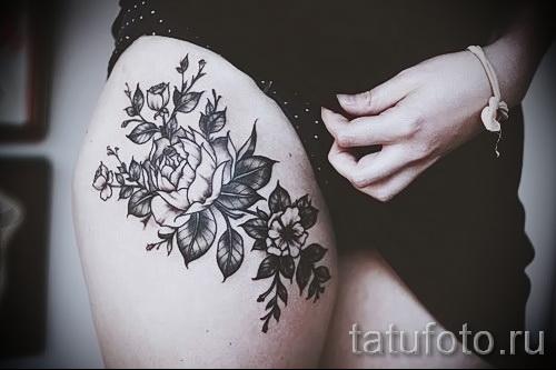тату на бедре у девушек - примеры готовых тату в фотографиях 01022016 7