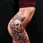 тату на бедре у девушек - примеры готовых тату в фотографиях 01022016 9