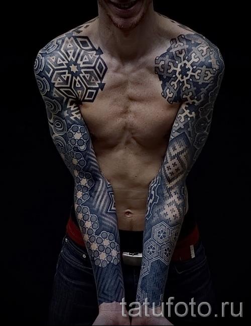 татуировки мужские узоры на плече мужские фото