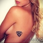 тату на ребрах бриллиант - фотография с примером татуировки от 03022016 1