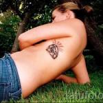 тату на ребрах бриллиант - фотография с примером татуировки от 03022016 3