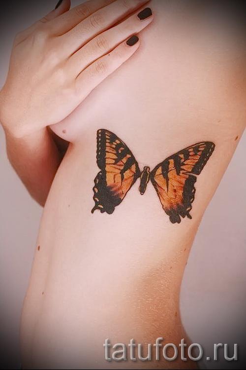 тату на ребрах женские - фотография с примером татуировки от 03022016 7