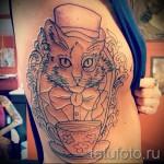 тату на ребрах кошка - фотография с примером татуировки от 03022016 4