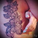 тату на ребрах кружево - фотография с примером татуировки от 03022016 2