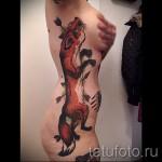 тату на ребрах лиса - фотография с примером татуировки от 03022016 2