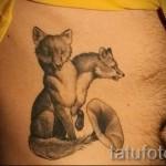 тату на ребрах лиса - фотография с примером татуировки от 03022016 4