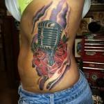 тату на ребрах олд скул - фотография с примером татуировки от 03022016 2