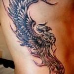тату на ребрах феникс - фотография с примером татуировки от 03022016 2