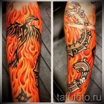 тату огненный феникс - фото готовой татуировки от 11022016 6